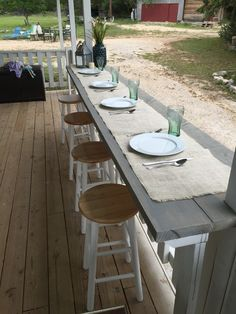 We're leaving the cooking location today, as well as also into the screened in porch. I'm sharing screened in porch ideas on precisely how to capitalize on a little budget. Bar Patio, Deck Bar, Porch Bar, Deck With Bar, Diy Porch, Outdoor Patio Bar, Patio Railing, Pergola Patio, Backyard Patio