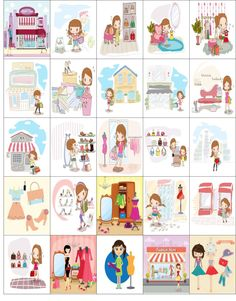 Free Printable-25 Fashion Stickers For Your Happy Planner or Erin Condren Planner