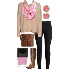 A fashion look from August 2014 featuring over sized sweaters, elastic waistband pants and slouchy boots. Browse and shop related looks. Infinity Scarf Outfits, Slouchy Boots, Pink Stripes, Fashion Inspiration, Fashion Looks, Casual, Polyvore, Sweaters, Shopping