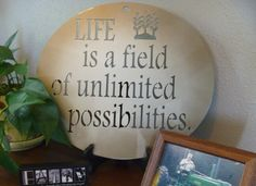 Life is a field of unlimited possibilities metal sign, Metal Possibilities Sign, Steel Painted Motivational Sign by TriStateMetalFab on Etsy