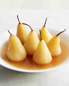 Poached Pears with Riesling Recipe
