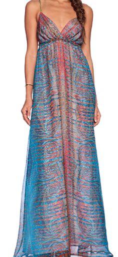 Printed gorgeous long dress