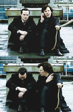 SPOILERS!! #Sherlock and Moriarty. Series 3, episode 1