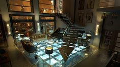 Interior shot of a penthouse in New York Futuristic Interior, Futuristic Architecture, Interior Architecture, Interior And Exterior, Interior Design, Futuristic City, Futuristic Design, Sci Fi Environment, Apartment Interior