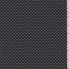 Black/White Silk Suiting - 32909 - Fabric By The Yard At Discount Prices