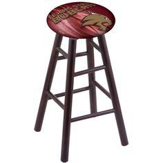 Texas State Bobcats Swivel Bar Stool w/ Dark Cherry Maple Base