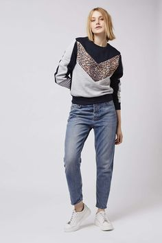 Animal Colourblock Sweatshirt - Topshop