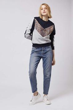 Animal Colourblock Sweatshirt - Topshop
