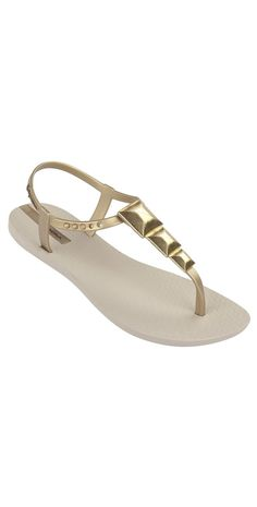 7f8b5bcf68eb7 iPanema 2014 Maya Beige and Gold Sandal  iPanema  2014  Beach  FlipFlops