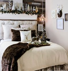 Captivating Hereu0027s A Bedroom Done In Non Traditional Christmas Colours. Love How
