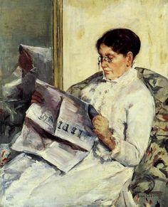Mary Cassatt's portrait of her mother.