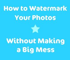Are your watermarks and photo graphics overwhelming?