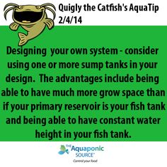 designing your own system consider using one or more sump tanks in your design