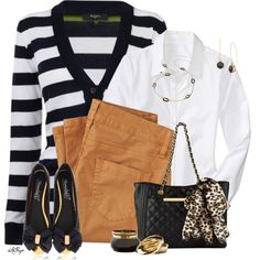 Classic White, Black and Beige.... Fall can't be trendier