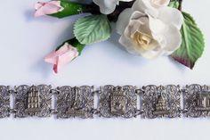 Vintage French Silver Tone Souvenir Filigree by RomAntiqueSupplies