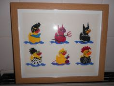 cross stitch made to raise funds for fibromyalgia (fibroduck)