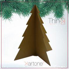 #Dascher albero di natale in Eco- Cartone avana, in vendita esclusiva su www.maketank.it, design by #Kartonecubo