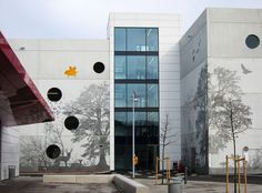 Graphic Concrete reference: Kv Tändstickan, Parking House