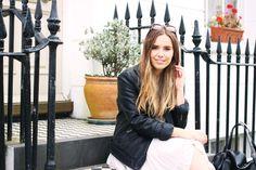 Summer Dress / Pink / Brandy Melville / Leather Jacket / Topshop Sunglasses / Brighton / Style / Hello October