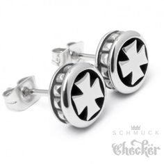 Edelstahl Herren Biker Ring Eisernes Kreuz schwarz Ritterkreuz Rocker Harley