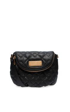 Väska New Q Quilted Mini Natasha BLACK/GOLD - Marc by Marc Jacobs - Designers - Raglady