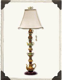 STACKED TEAPOTS KITCHEN LAMP #90 LP 901236 $149.95   ($170 Value