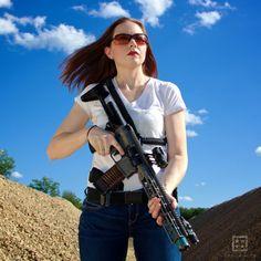 Photo #guns #women #women with guns #shotguns #pistol #handguns #pink gun #girls with guns #bra gun holster