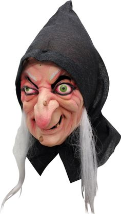 Halloween Old Baba Yaga Fairytale Evil Witch Cosplay Latex Mask