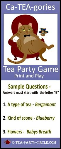 Tea games Cateagories puts a fun spin on a classic party favorite.