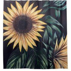 Sunflower Life Shower Curtain - flowers floral flower design unique style