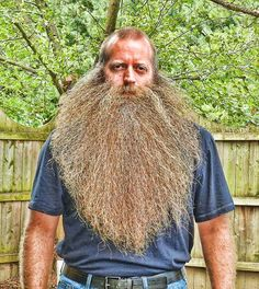 Voorhees man sets world record with beard, toothpicks Beard Look, Sexy Beard, Epic Beard, Badass Beard, Great Beards, Awesome Beards, Hairy Men, Bearded Men, Bart Trend