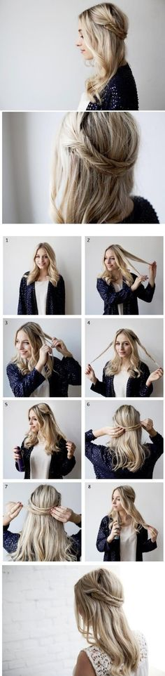 peinados faciles para trabajar