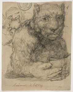 Goya – Animal de letras, 1825-1828; Álbum de Burdeos I o Álbum G, 4; Lápiz negro y lápiz litográfico | Museo Nacional del Prado