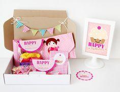 Geschenkbox in Pink von nähfein auf DaWanda.com
