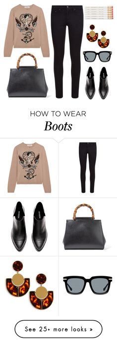 """Black + Brown"" by cherieaustin on Polyvore featuring Valentino, rag & bone, Gucci and Tory Burch"