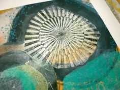 every colour in the box: Gellis Again! -- So, I have been finding other things to do with my stash of Gelli prints and one thing I decided to do was add paint and collage to an 'unfinished' print. Follow along with me here as I show you what I did!