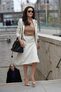 Angelina Jolie Style – Leaving the Lincoln Center in NYC, April 2015