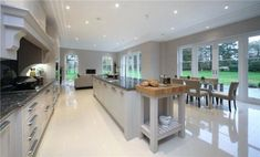7 bedroom detached house for sale in Picketts Hill, Nr Frensham, Hampshire - Rightmove. Kitchen Family Rooms, Home Decor Kitchen, New Kitchen, Kitchen Ideas, Kitchen Colors, Luxury Kitchens, Cool Kitchens, Open Plan Kitchen Dining Living, Country Kitchen Designs