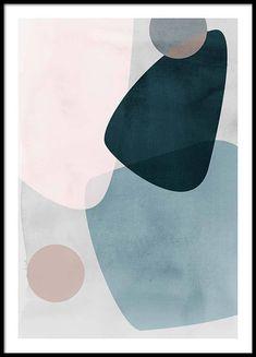 Graphic Pastels 1 Poster in de groep Posters / Afmetingen / 50x70cm bij Desenio AB (3449)