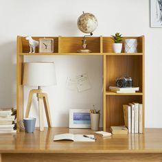 Shop at DormCo for our Classic Dorm Desk Bookshelf - Beech (Natural Wood). This dorm necessities item has plenty of shelf space for college textbooks, notebooks, and other college supplies and will add to your dorm room decor with natural wood coloring. Dorm Shelves, Bookshelf Desk, Bookshelves, Shelving, Dorm Necessities, Dorm Essentials, Bedroom Desk, Dorm Room Desk, Dorm Desk Decor