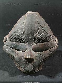Small mask. terracotta from Predionica, Kosovo. Vinca-Plocnik culture, Neolithic (5th mill. BCE). height 11 cm inv. 157