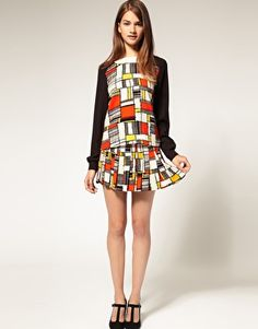 it's killing me they don't have this top available in my size. Pop Art Fashion, 1960s Fashion, Mens Fashion, Asos Online Shopping, Online Shopping Clothes, Mondrian Dress, Asos Shop, Free Clothes, Clothes For Women