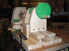 Ryszard's lathe, with copy attachment