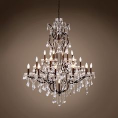 "19th C. Rococo 25 Light 40"" Crystal Chandelier"