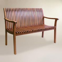 Crafted of richly finished brown eucalyptus hardwood, our contemporary bench is curvaceously shaped for enhanced cushion-free comfort. Pair this seat with a coffee or end table to create your very own patio or garden retreat. Coaster Furniture, Affordable Outdoor Furniture, Outdoor Furniture Sets, Outdoor Seating Areas, Outdoor Chairs, Adirondack Chairs, Rustic Furniture, Home Furniture, Antique Furniture