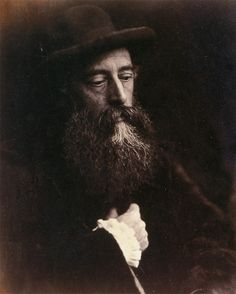 Watts with hat--Julia Margaret Cameron
