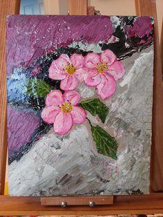 Acrylique Abstrait Fleurs