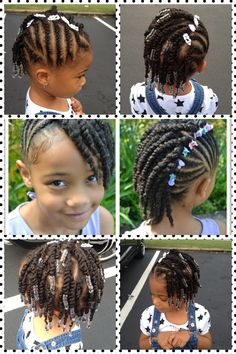 I got my idea for Raegan's hair from here... (The pics in the middle)... But added a few beads on the ends of her hair. I'm getting better at braiding her hair & loving the twists. I was twisting her hair to let it breathe & I ended up loving her hair twisted. Overlook her face, she had just woke up & was not in the mood for pics.  Lol!!