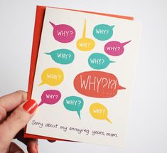 Funny Mother's Day cards: Toddler Years Mother's Day Card from Row House 14