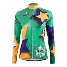 b3361c5064b ILPALADINO Bike jersey Long Winter Pro Women Team Cycling clothing Green  Star Bicycle Wear Ropa Ciclismo MTB Long Sleeve Shirts-in Cycling Jerseys  from ...